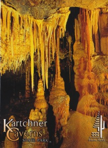 Stalactites, Stalagmites and flowstone in a room the size of a football field. Arizona State Parks postcard, no photographer credit provided.